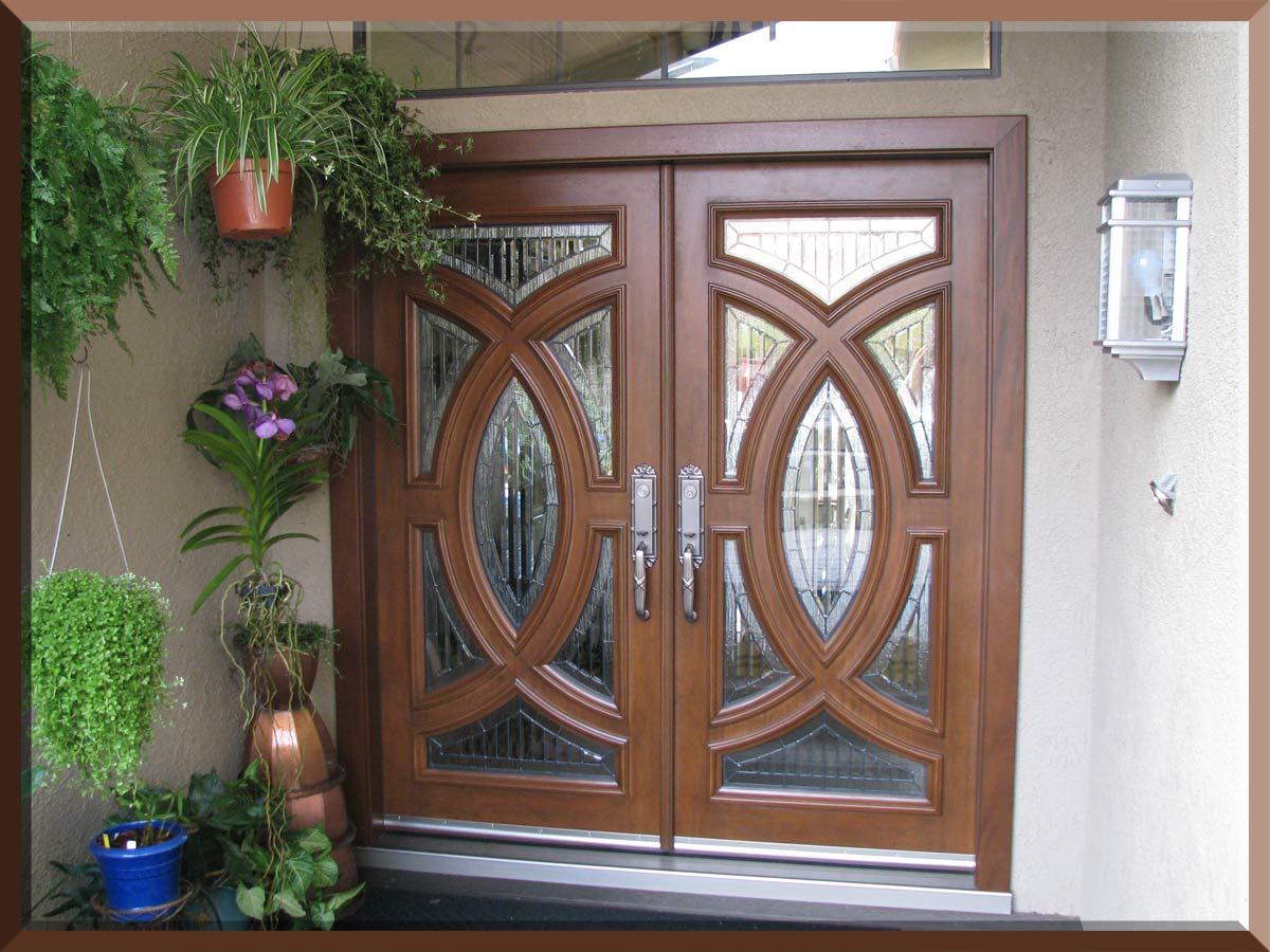 Double Front Entry Doors with Glass 1200 x 900