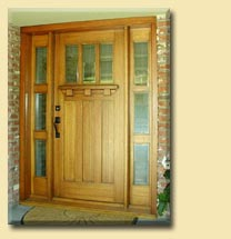 Craftsman Style Door and Sidelites